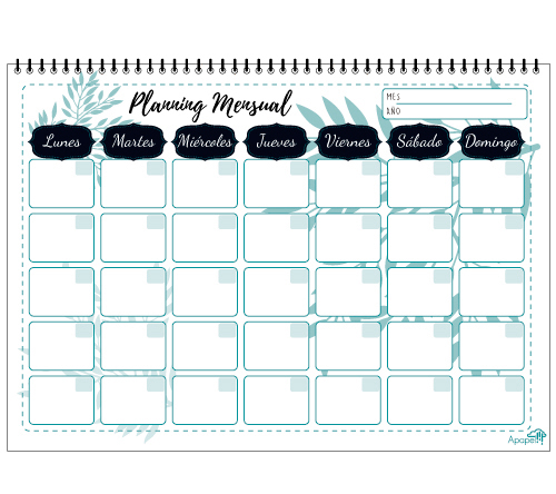 regalo Planning mensual floral